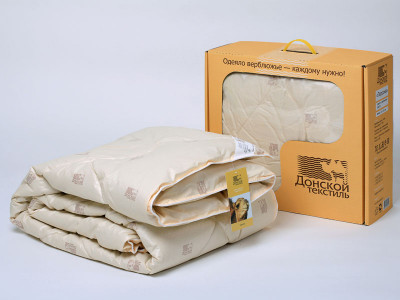 Selling the Camel Wool Quilt Blanket of factory Donskoy Textile.