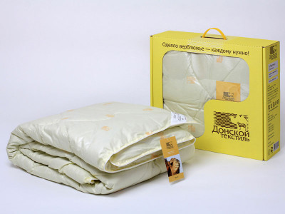 Sale of camel quilt duvet Standard (300g / m2). Online store comforters of camel wool at producer prices - factory Donskoy Textile